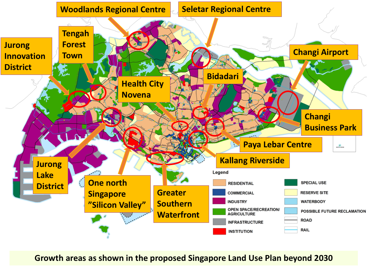 Singapore growth areas map